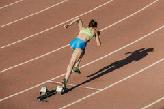 Начните спортсменов женщин Стоковое Фото