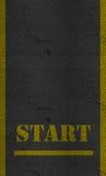 Начните текстуру дороги шоссе асфальта знака Стоковое Изображение RF