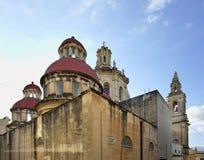 Наша дама священной приходской церкви сердца в Sliema (tas-Sliema) Остров Мальты Стоковое Фото