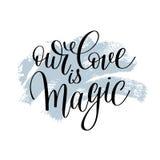 Наша влюбленность волшебная рукописная цитата литерности о влюбленности иллюстрация штока