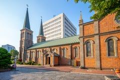 Наша дама собора Лурда, Тэгу, Южной Кореи стоковые фото