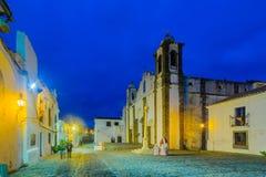Наша дама церков лагуны, в Monsaraz Стоковая Фотография
