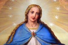 Наша дама, altarpiece в базилике священного сердца Иисуса в Загребе стоковая фотография rf