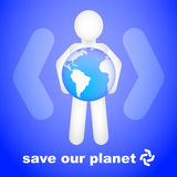 наша планета сохраняет Бесплатная Иллюстрация