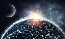 Наша уникально вселенная Мультимедиа Стоковое фото RF