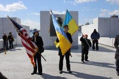 Нашествие Крыма agains протеста Стоковые Изображения RF