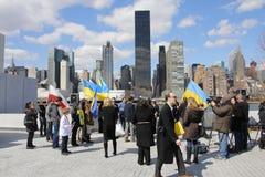 Нашествие Крыма agains протеста Стоковые Фотографии RF