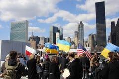 Нашествие Крыма agains протеста Стоковая Фотография