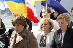 Нашествие Крыма agains протеста Стоковое Фото