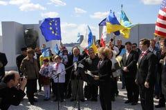 Нашествие Крыма agains протеста Стоковое Изображение
