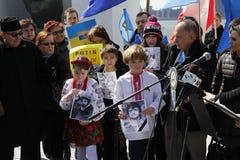 Нашествие Крыма agains протеста Стоковые Фото