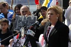 Нашествие Крыма agains протеста Стоковые Изображения