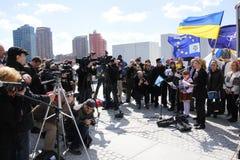Нашествие Крыма agains протеста Стоковое Изображение RF