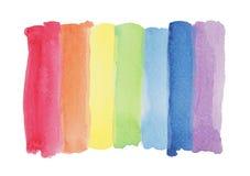 Нашивка краски акварели радуги Стоковое Фото