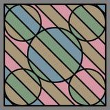 Нашивка круга и черная линия предпосылка формы Стоковые Изображения