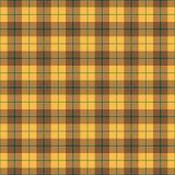 нашивка шотландки зеленого цвета золота предпосылки Стоковое Изображение