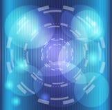 Нашивки абстрактной предпосылки голубые с запачканной текстурой Стоковые Изображения