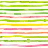Нашивки акварели - красочная абстрактная безшовная картина Стоковое Изображение RF