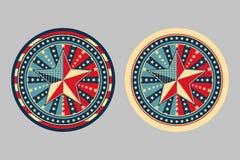 нашивки звезд принципиальных схем Иллюстрация штока