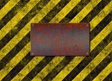 нашивки знака металлической пластинкы опасности бесплатная иллюстрация