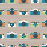 Нашивки камер вектора предпосылка картины ретро безшовная бесплатная иллюстрация