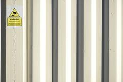 Нашивки на белых сторонах контейнера для перевозок Стоковое Изображение RF