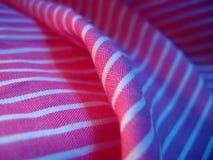 нашивки ткани розовые белые Стоковая Фотография RF