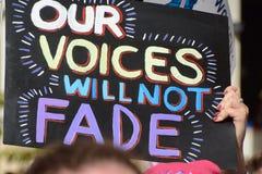 Наши голоса не увянут стоковые изображения