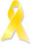 наш вспомните желтый цвет войск тесемки Стоковые Изображения RF