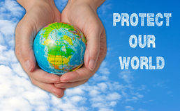 наш защитите мир Стоковое фото RF