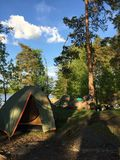 Наш лагерь стоковое фото