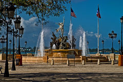 Наш фонтан корней, Сан-Хуан, Пуэрто-Рико Стоковое Фото