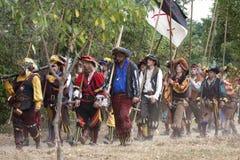 наёмники pavia landsknechte сражения стоковое фото