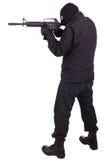 Наёмник с винтовкой CAR15 стоковая фотография rf