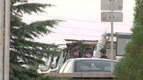 На автостоянке в болгарском авиапорте Burgas видеоматериал