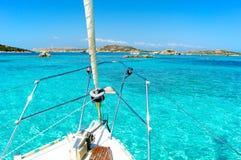 Della Madonna Порту, spiaggia rosa, Сардиния Италия Стоковое Изображение