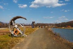 На банке озера Стоковая Фотография