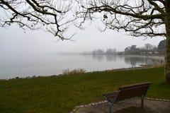 На банке Bodensee Ожидание для меня Стоковая Фотография RF