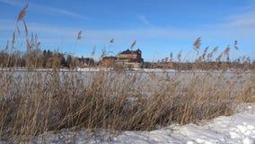 На береге озера Vanajavesi Hameenlinna, Финляндия видеоматериал