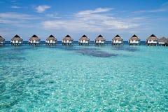 Над бунгалом воды, Мальдивы Стоковые Изображения RF