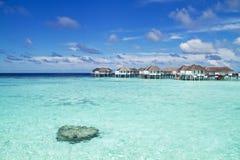 Над бунгалом воды, Мальдивы Стоковая Фотография RF