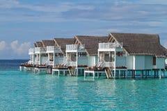 Над бунгалом воды, Мальдивы Стоковые Изображения