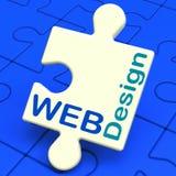 На веб-дизайн показано онлайн графический конструировать Стоковое фото RF
