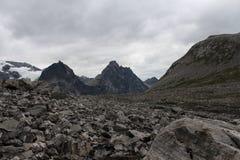 На верхней части горы Около Trollstigen, Норвегия Стоковое Фото
