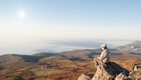 На верхней части мира Стоковое Изображение RF