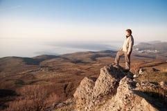 На верхней части мира Стоковые Фотографии RF