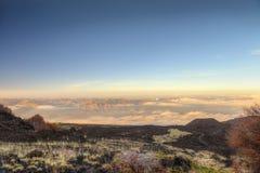 на верхней части mt etna Стоковая Фотография RF
