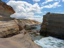 над взглядом берега моря Стоковое Изображение RF