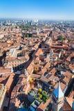 Над взглядом города болонья от башни Asinelli Стоковые Изображения