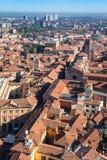 Над взглядом города болонья от towe Asinelli Стоковые Фото